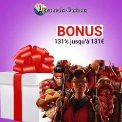 bonus bienvenue offert sur lucky31